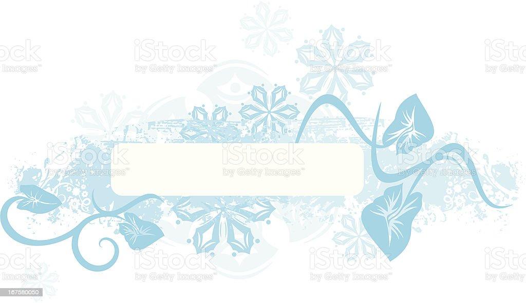 Winter Panel Series. royalty-free stock vector art