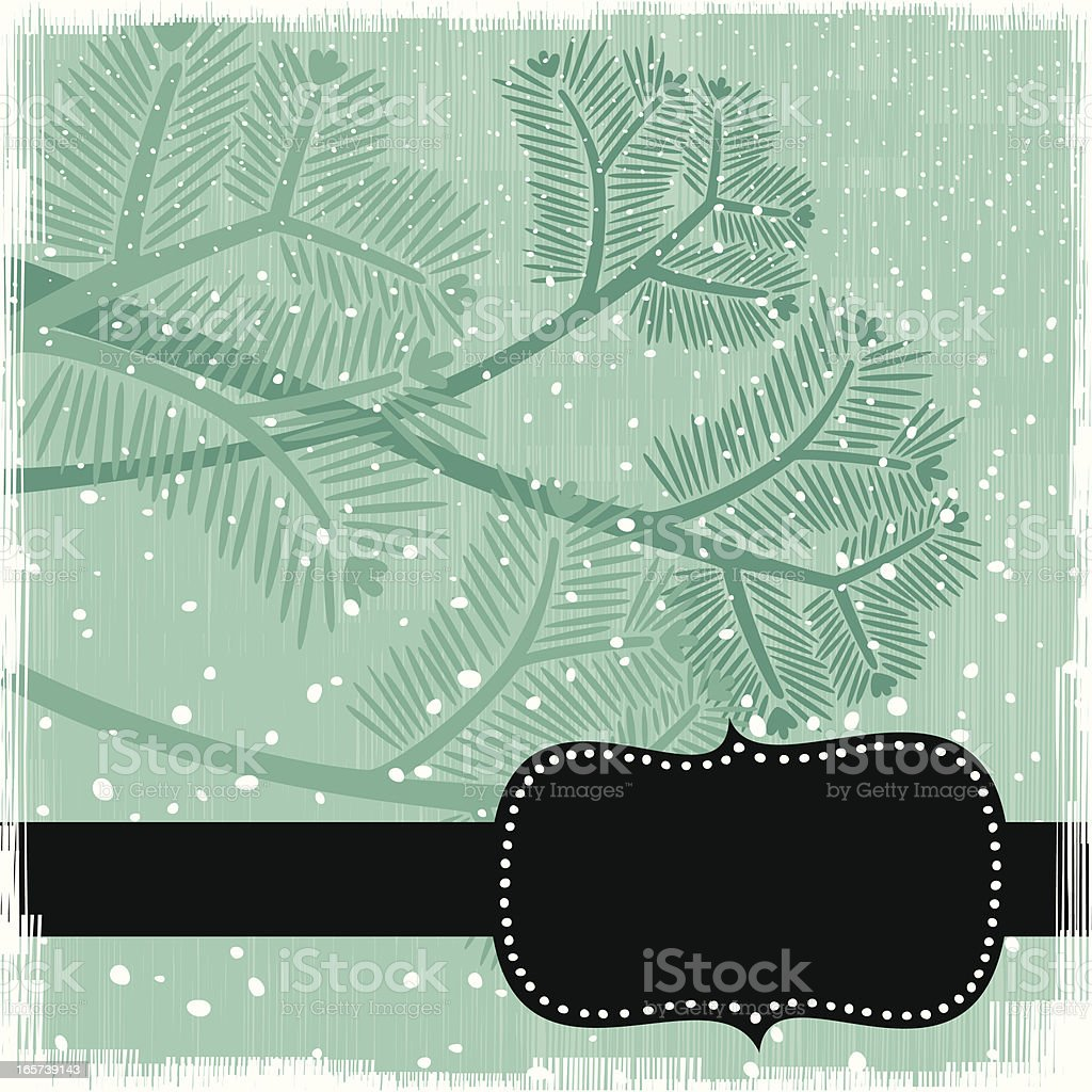 Winter pine tree branches royalty-free stock vector art