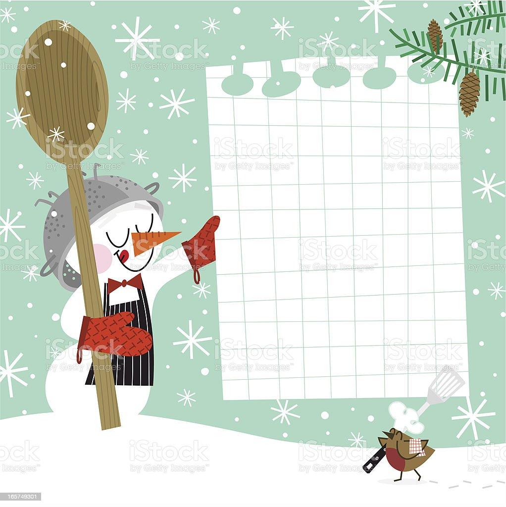 Winter recipe royalty-free stock vector art