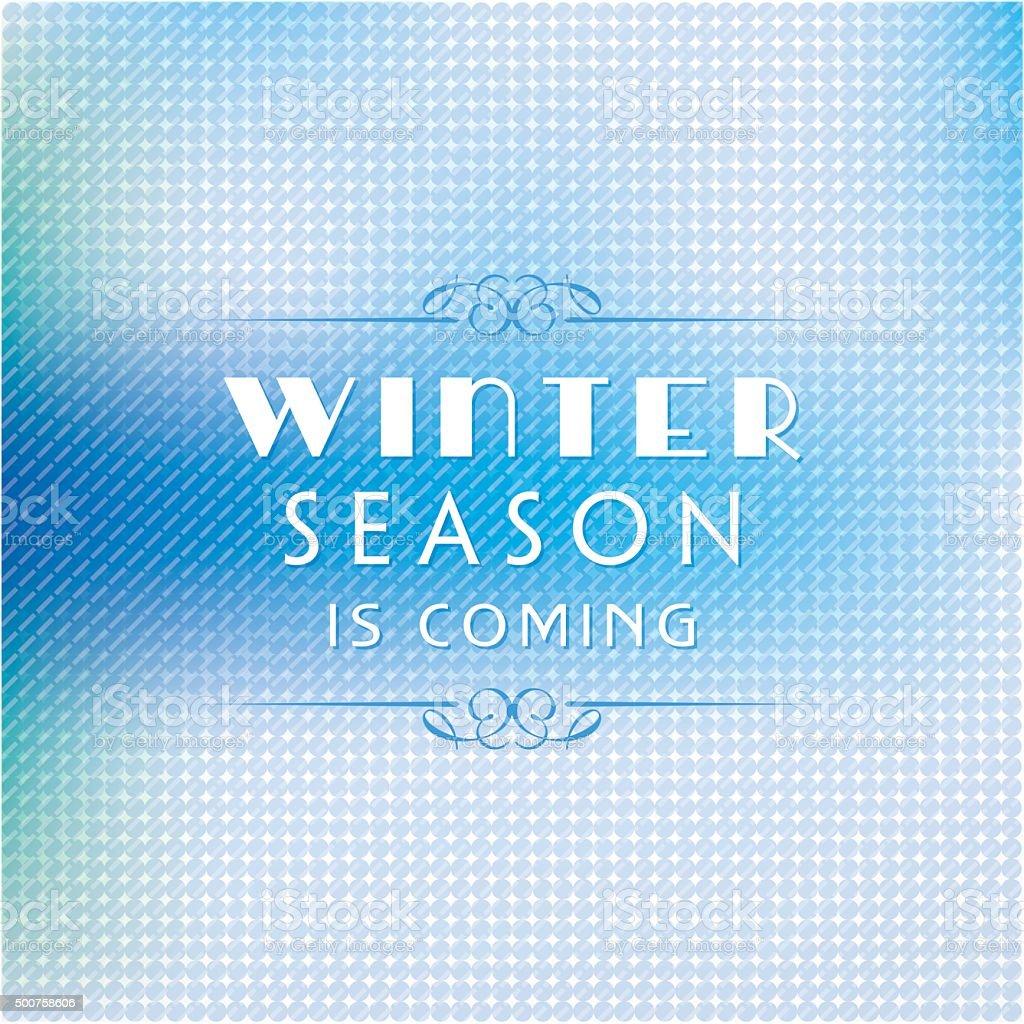 Winter sale poster design or Background. Creative business promotional vector. vector art illustration