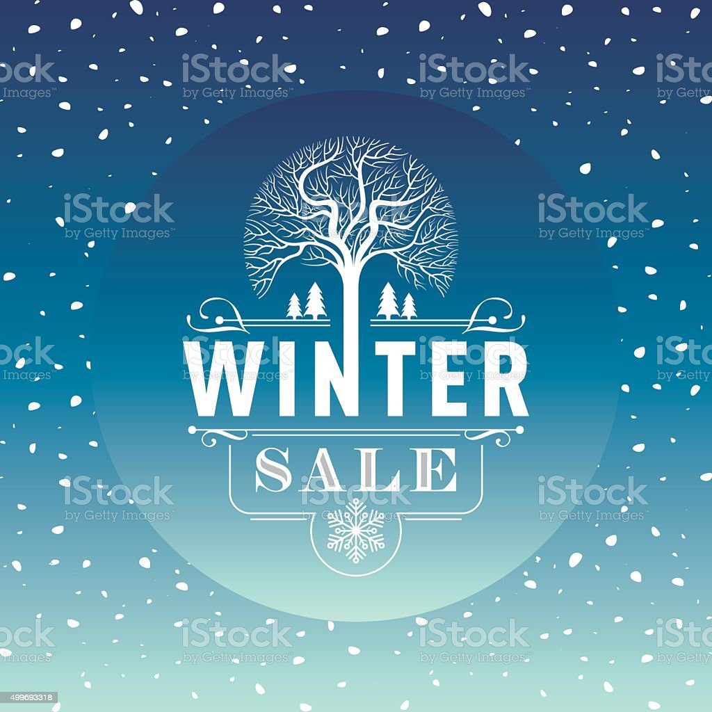 Poster design business - Winter Sale Poster Design Template Creative Business Promotional Vector Royalty Free Stock Vector