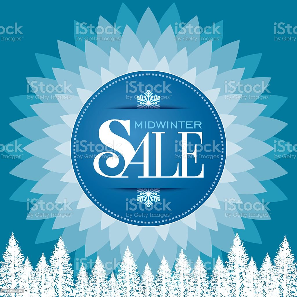 Poster design business - Winter Sale Poster Design Template Creative Business Promotional Vector