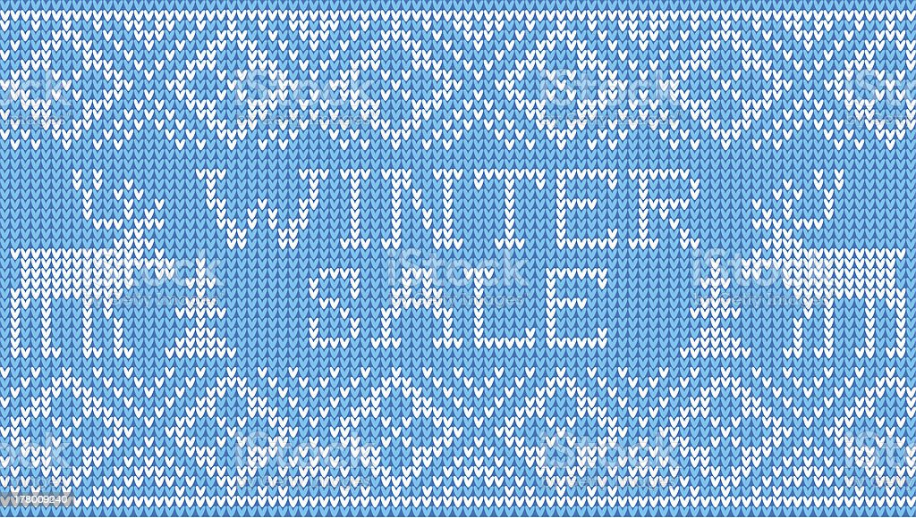 Winter sale: Scandinavian style seamless knitted pattern with deers royalty-free stock vector art