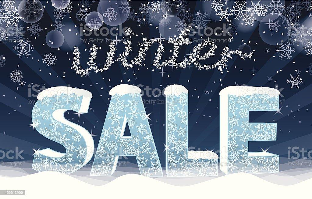 Winter Sale vector art illustration