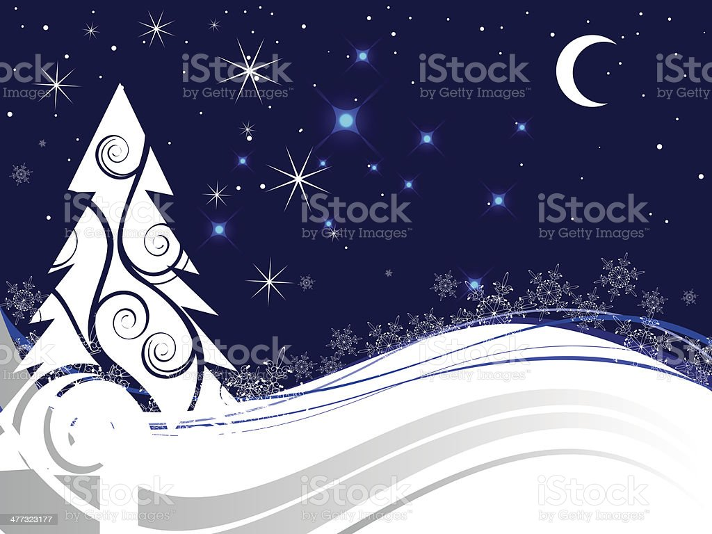 Winter scene - christmas card royalty-free stock vector art