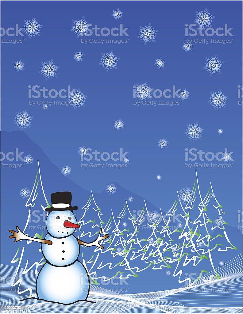 Winter Scene royalty-free stock vector art