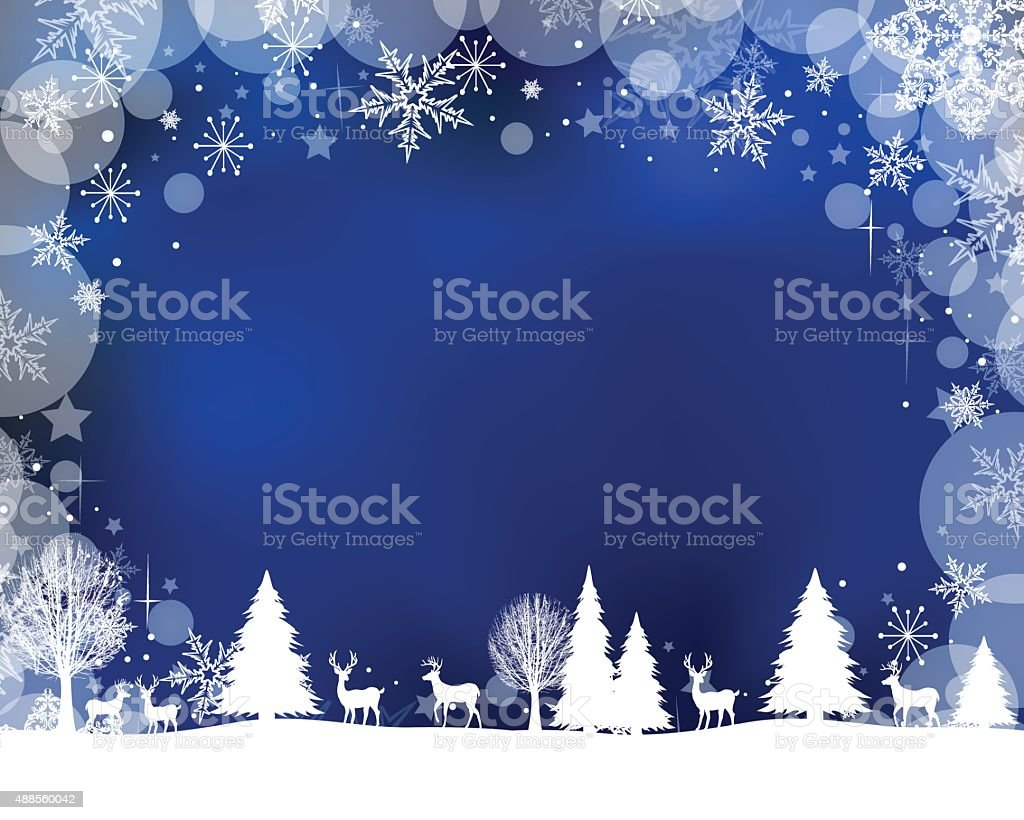 Winter Scene vector art illustration