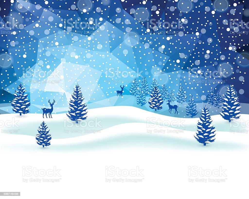 Winter Scene vector art illustration