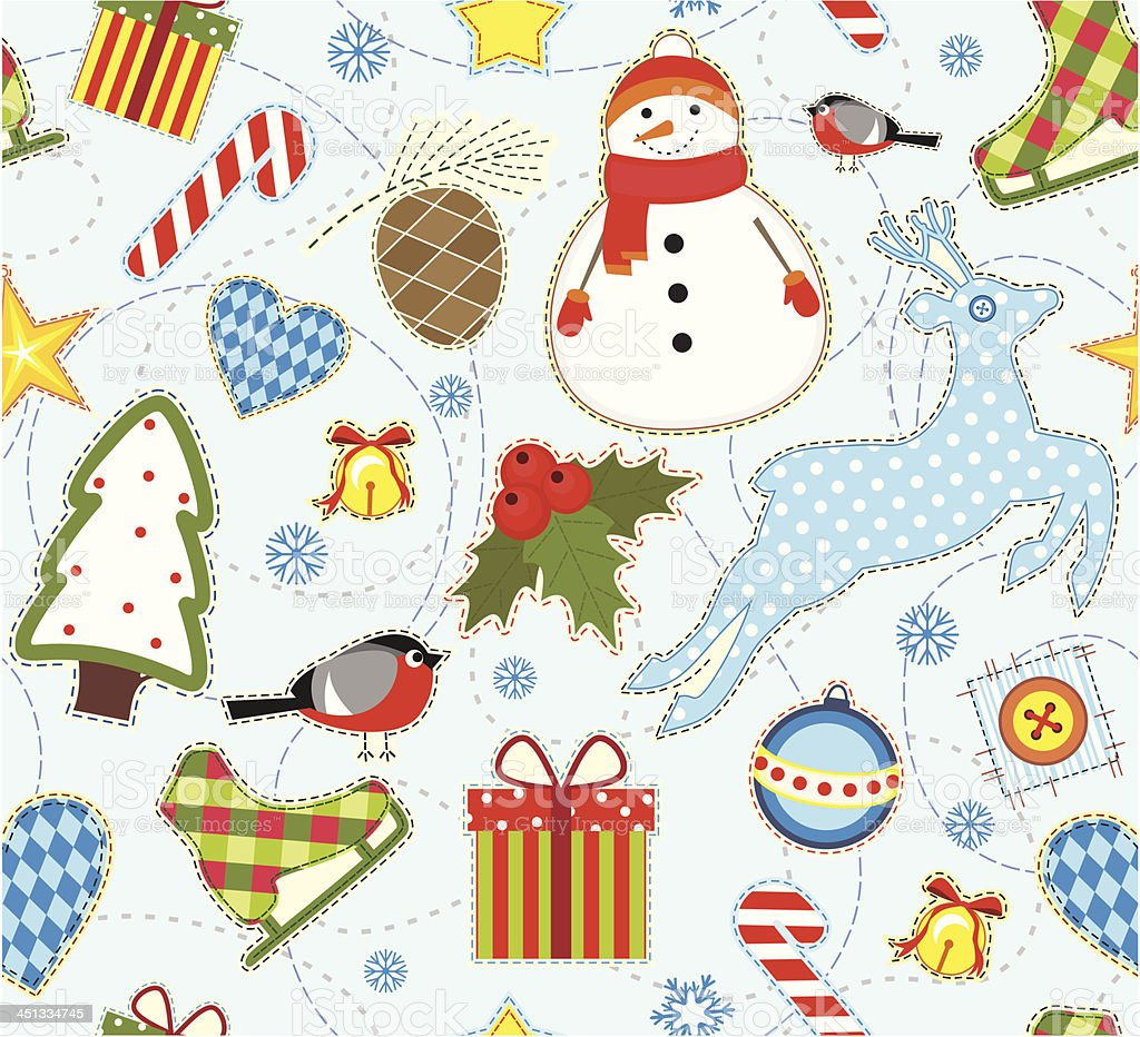 Winter Seamless Background royalty-free stock vector art