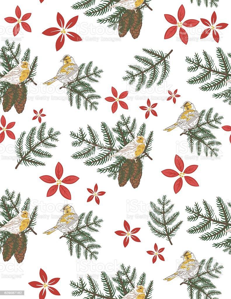 Winter Seamless Patterns vector art illustration