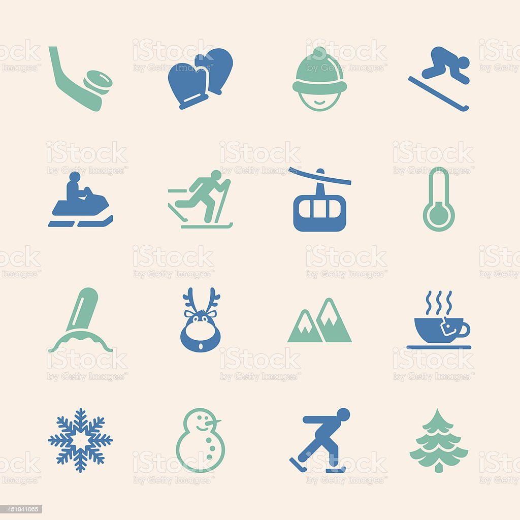 Winter Season Icons - Color Series | EPS10 royalty-free stock vector art