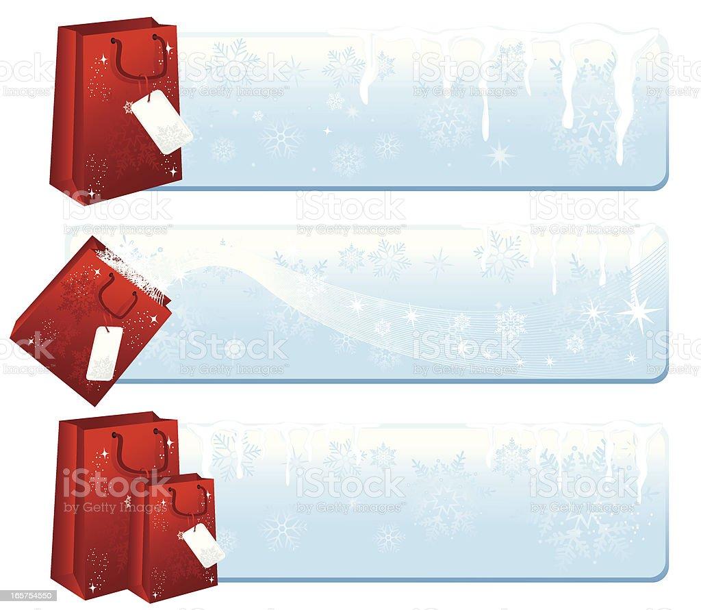 Winter Shopping royalty-free stock vector art
