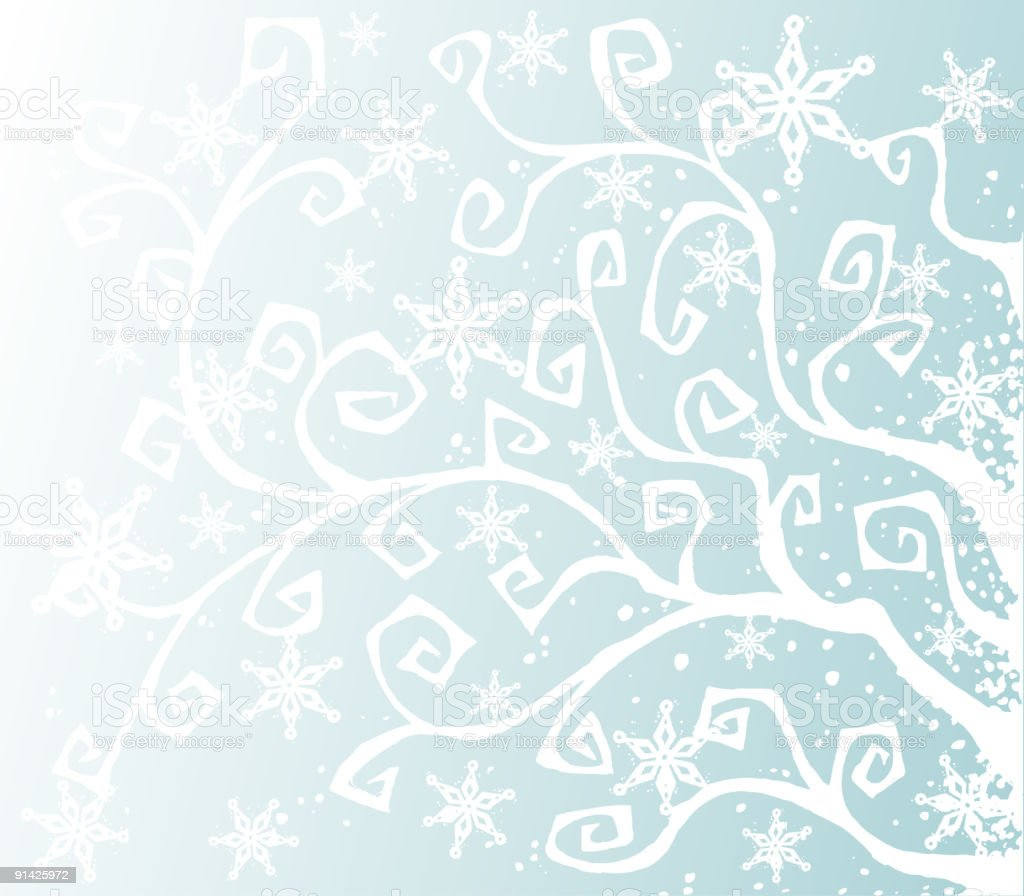 Winter Snow Background royalty-free stock vector art