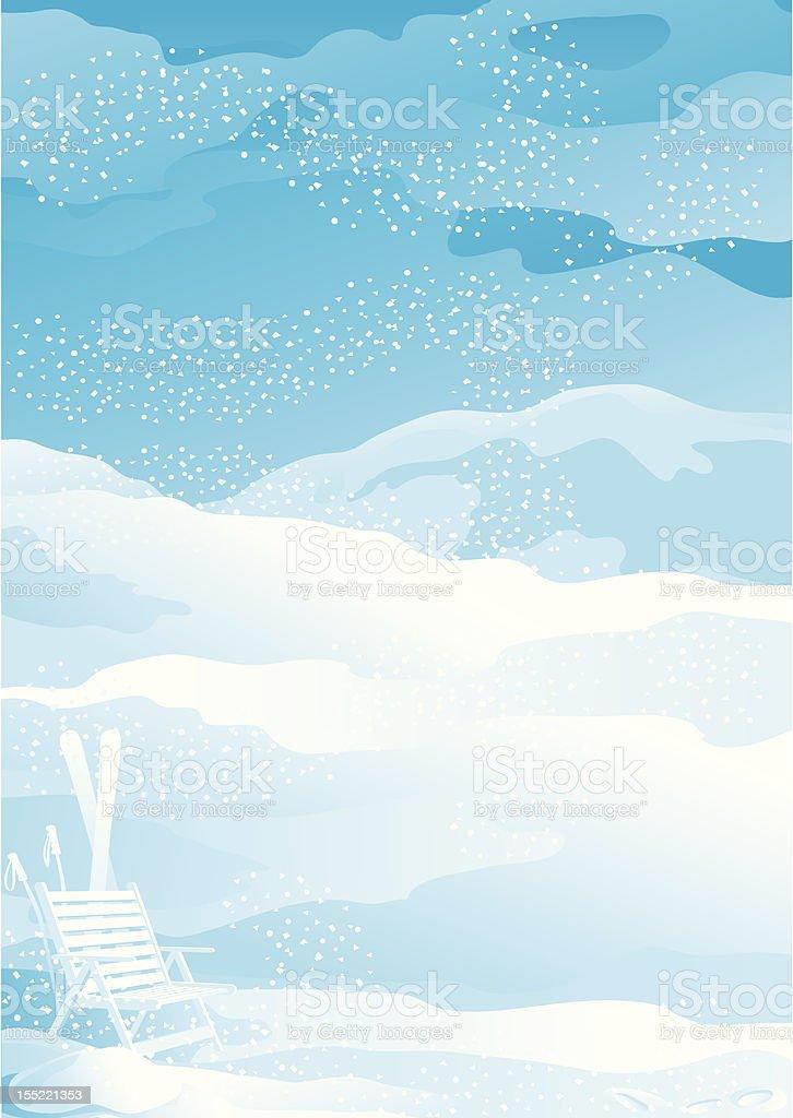 winter snow landscape royalty-free stock vector art