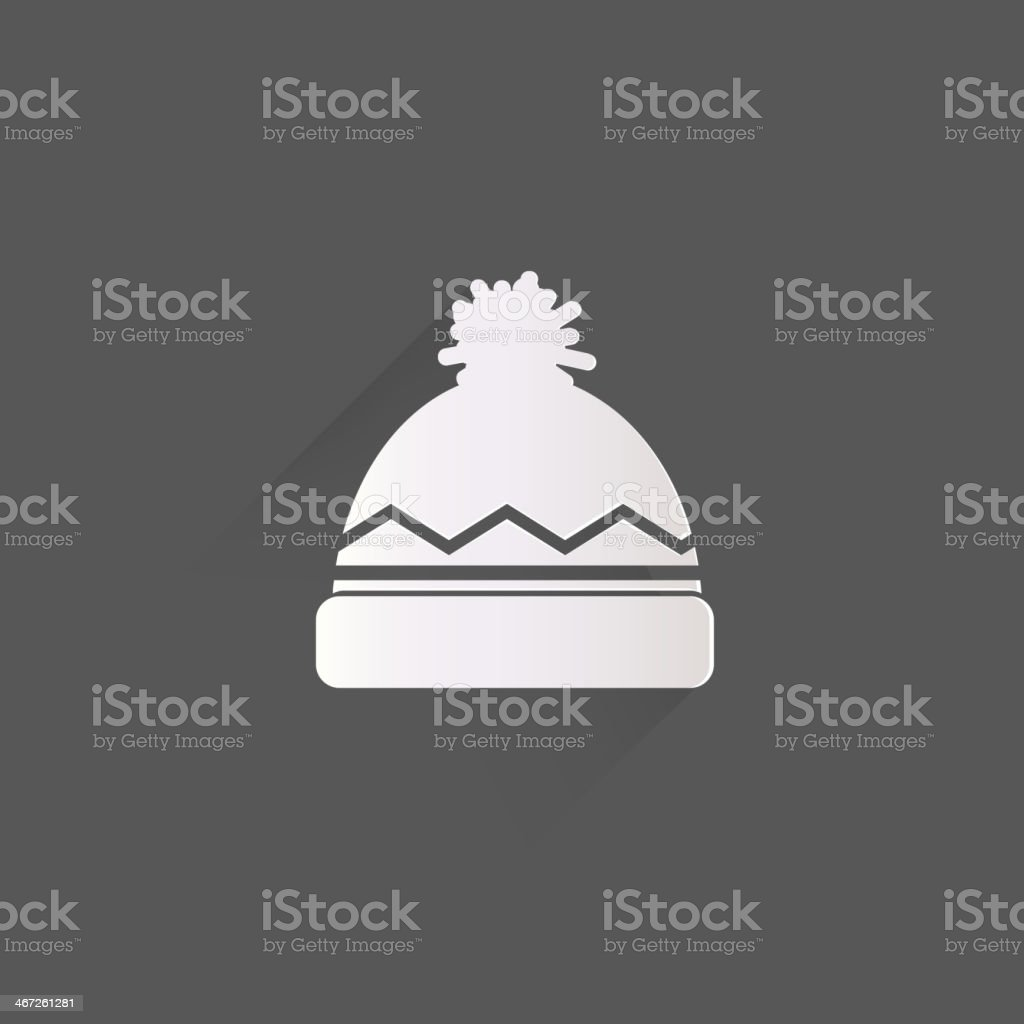 Winter snowboard cap icon vector art illustration