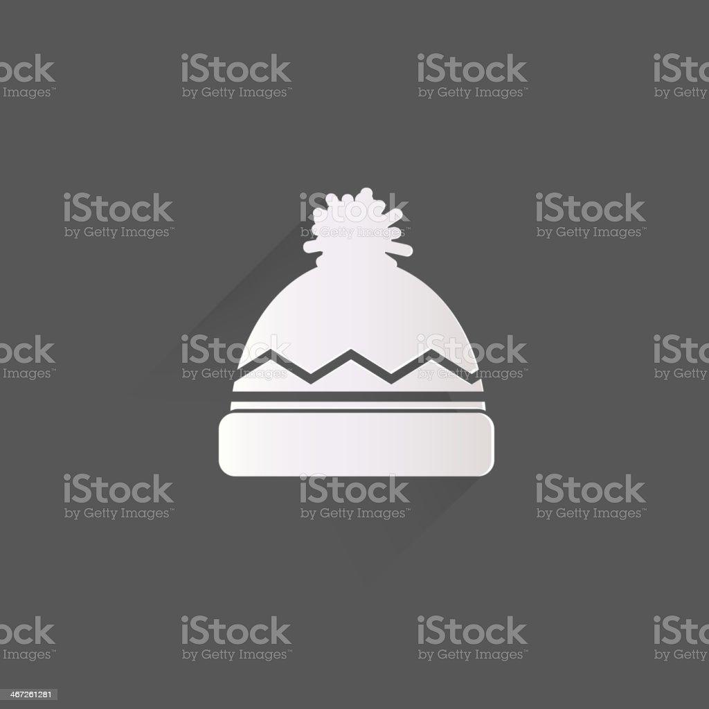 Winter snowboard cap icon vector art illustration