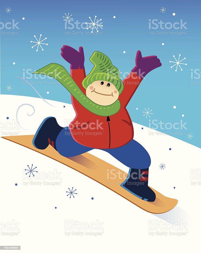 Winter Snowboarding royalty-free stock vector art