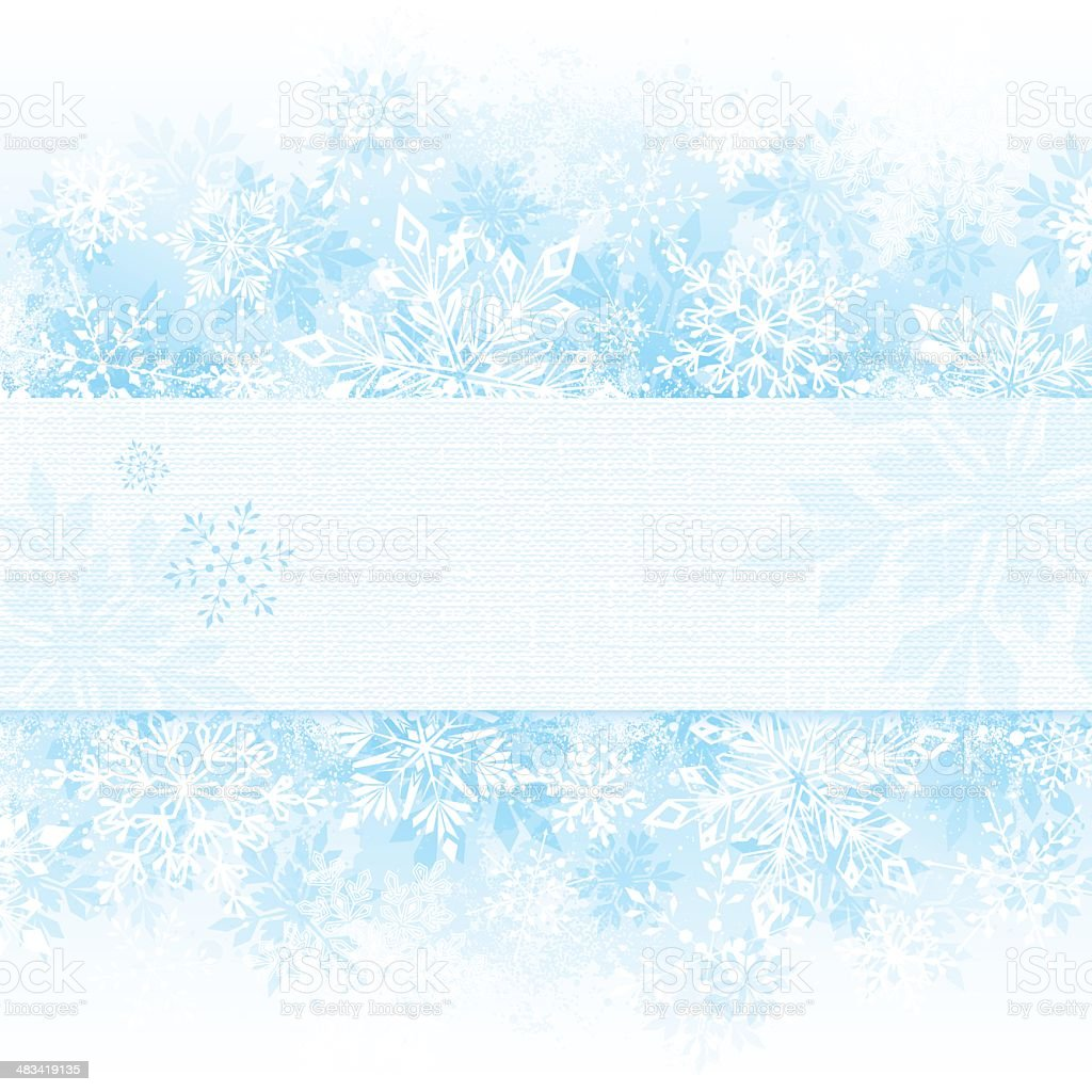 Winter Snowflake Background with Copy Space royalty-free stock vector art