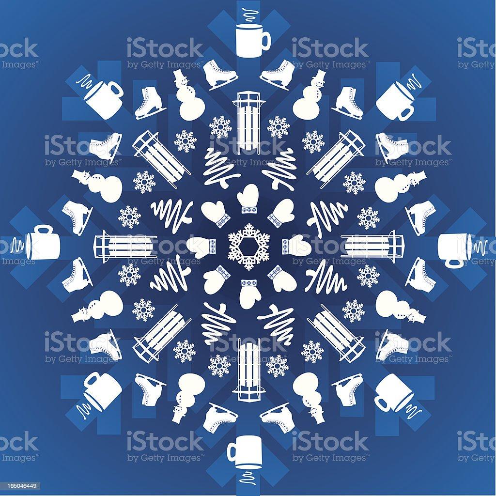 Winter Snowflake Explosion royalty-free stock vector art