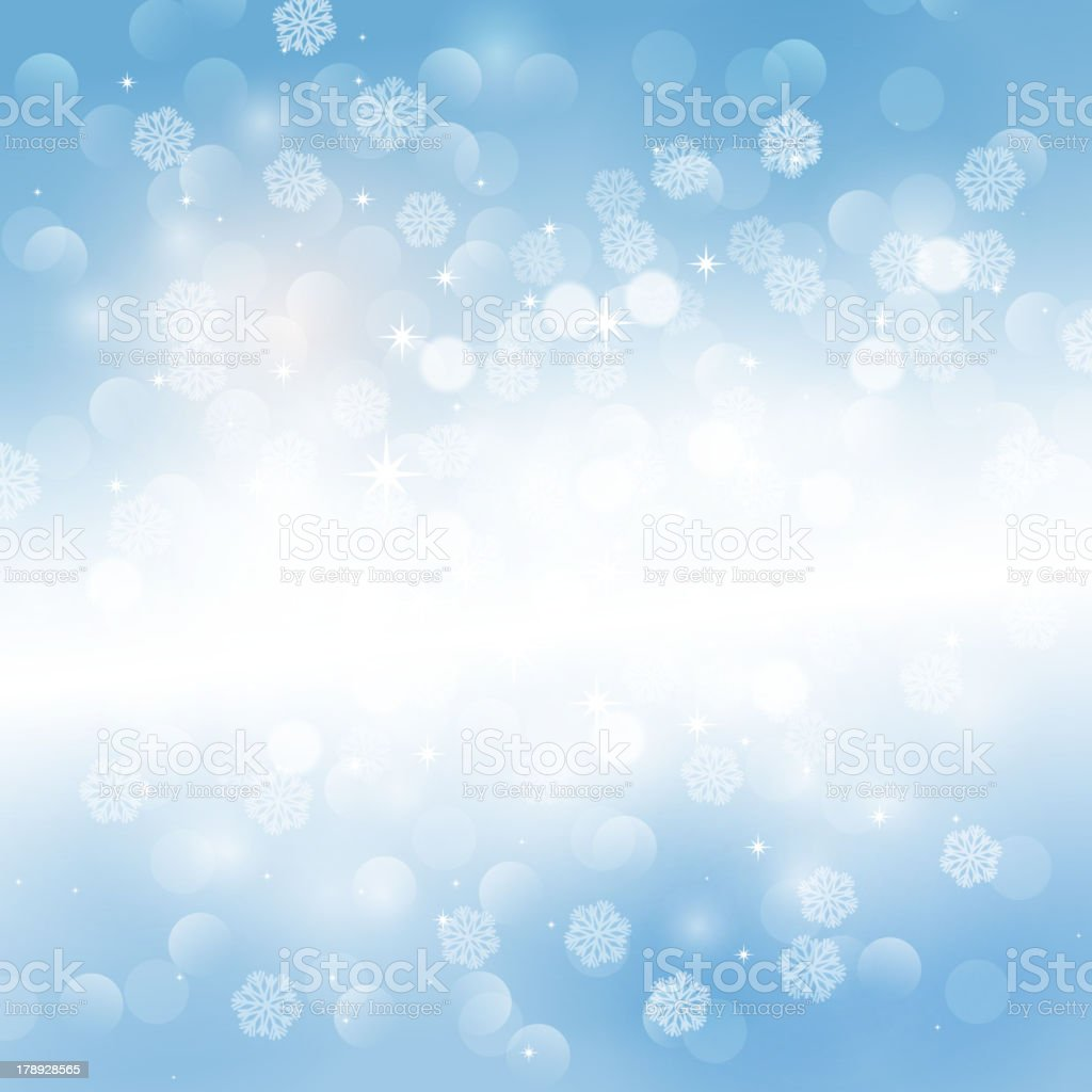 Winter snowflakes background royalty-free stock vector art