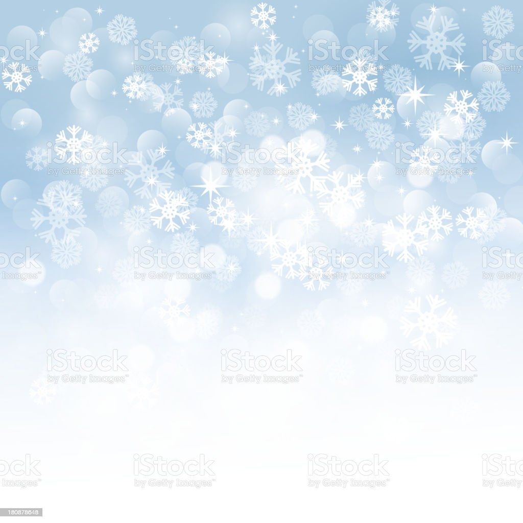 Winter snowflakes background vector art illustration