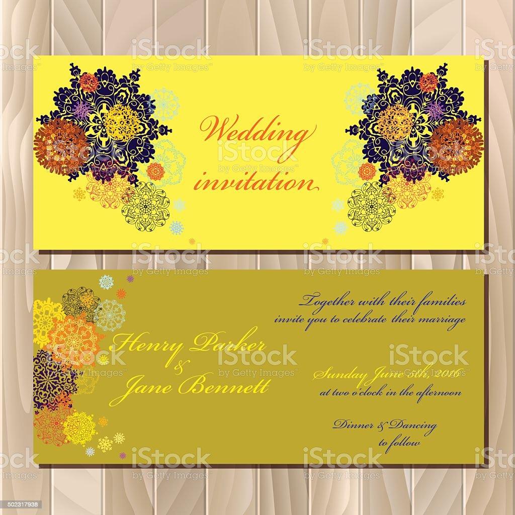 Winter snowflakes design wedding invitation card wedding vector winter snowflakes design wedding invitation card wedding vector illustration royalty free stock vector art stopboris Images