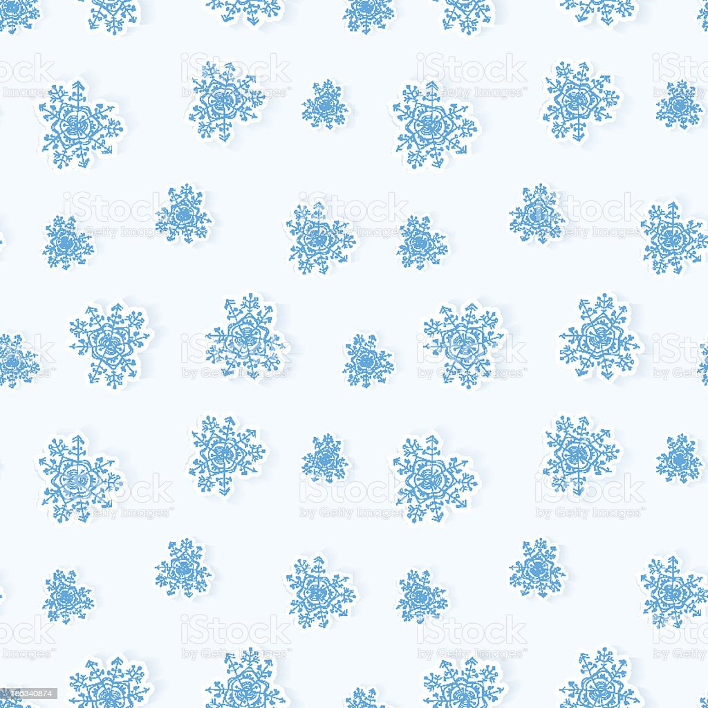 Winter snowflakes seamless background royalty-free stock vector art