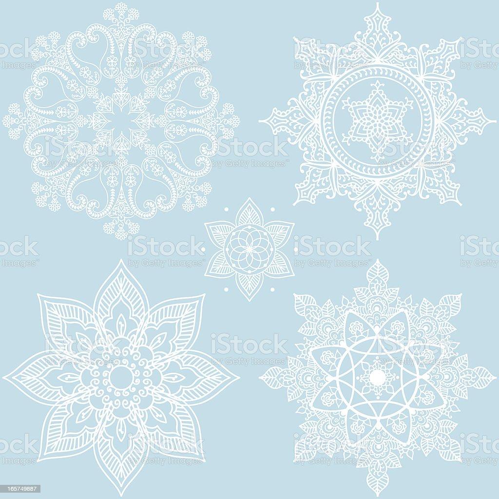 Winter Snowflakes royalty-free stock vector art
