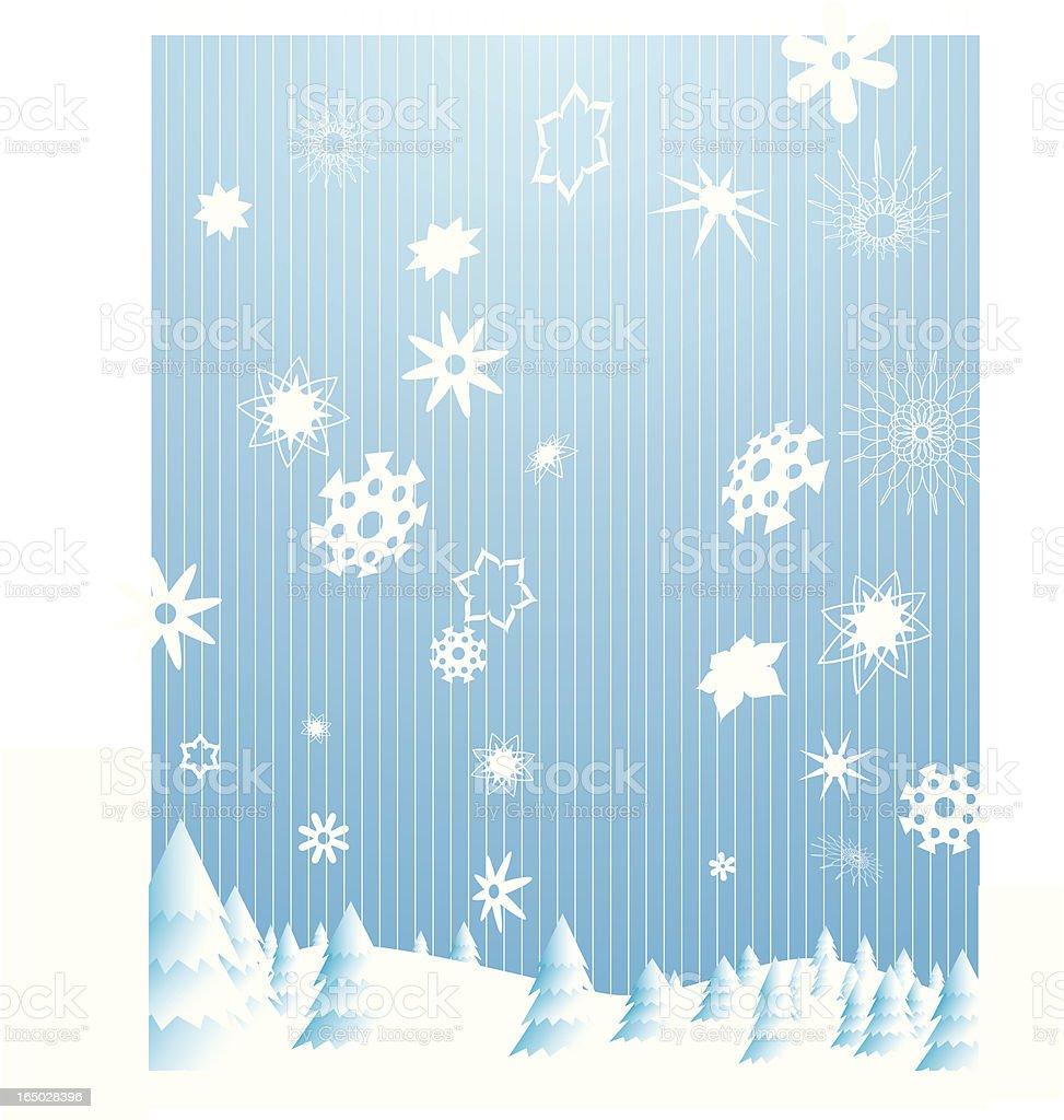 Winter Snowflakes vector royalty-free stock vector art