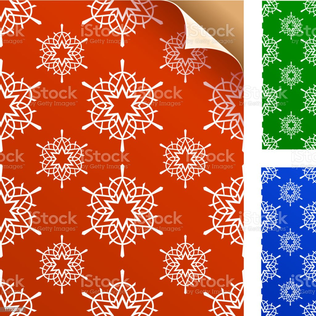 Winter snowflakes wrapping gift paper royalty-free stock vector art