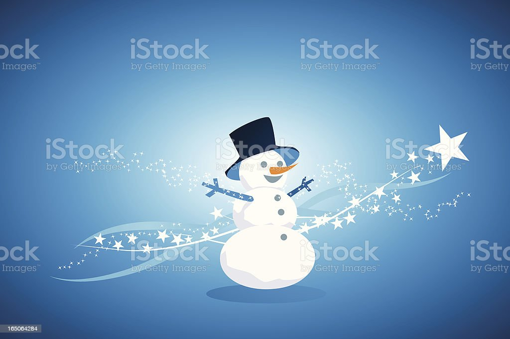 Winter snowman royalty-free stock vector art