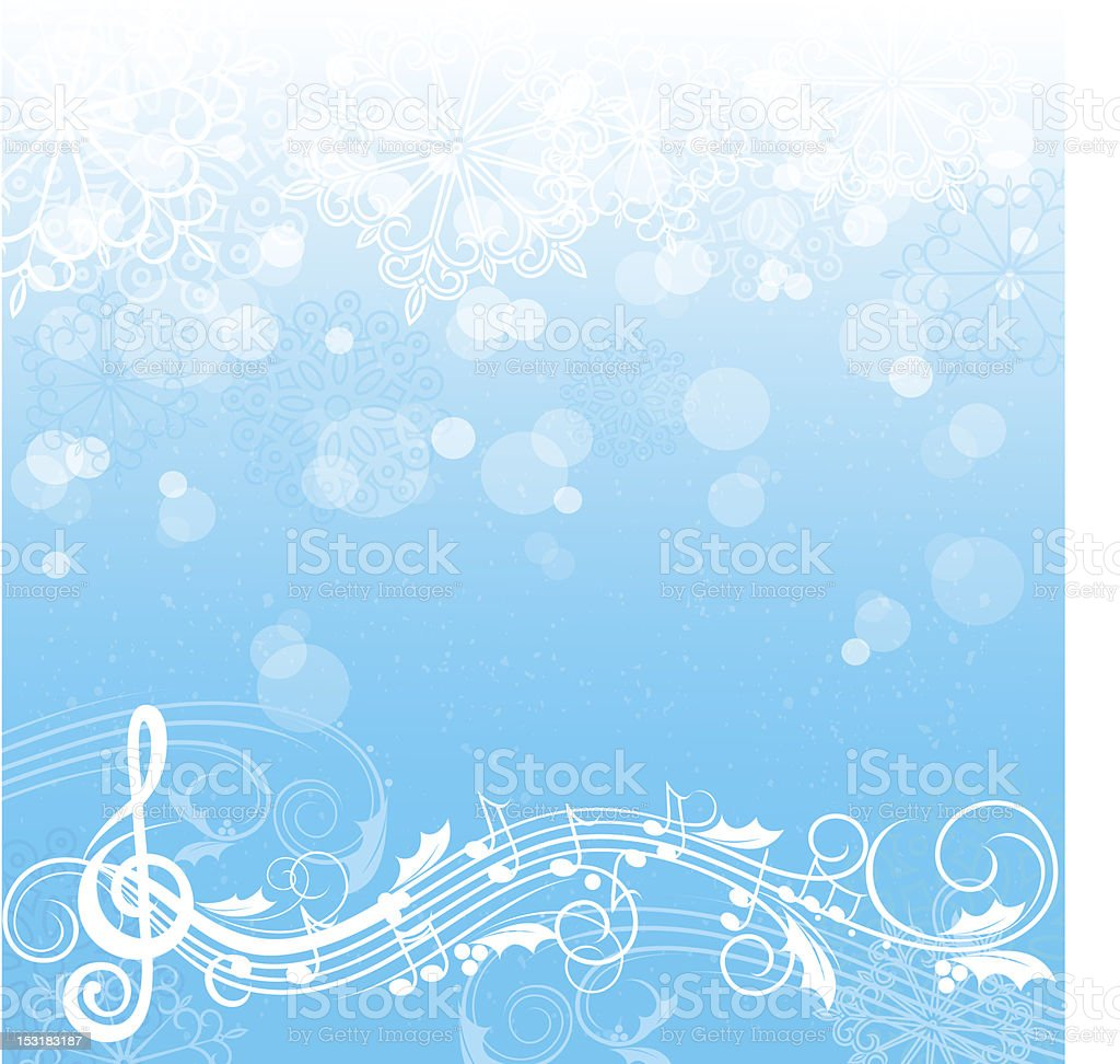 Winter song background royalty-free stock vector art