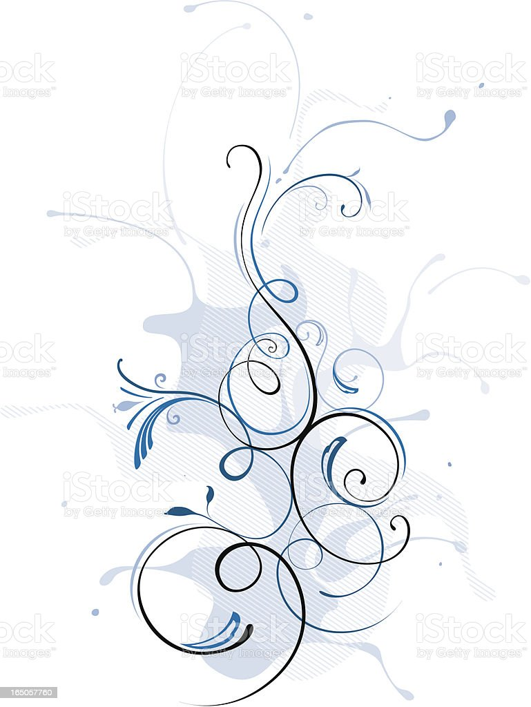 Winter splash background royalty-free stock vector art