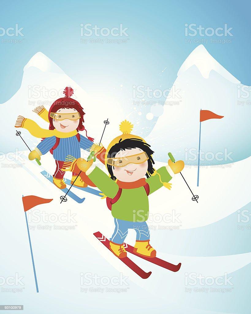 winter sport royalty-free stock vector art