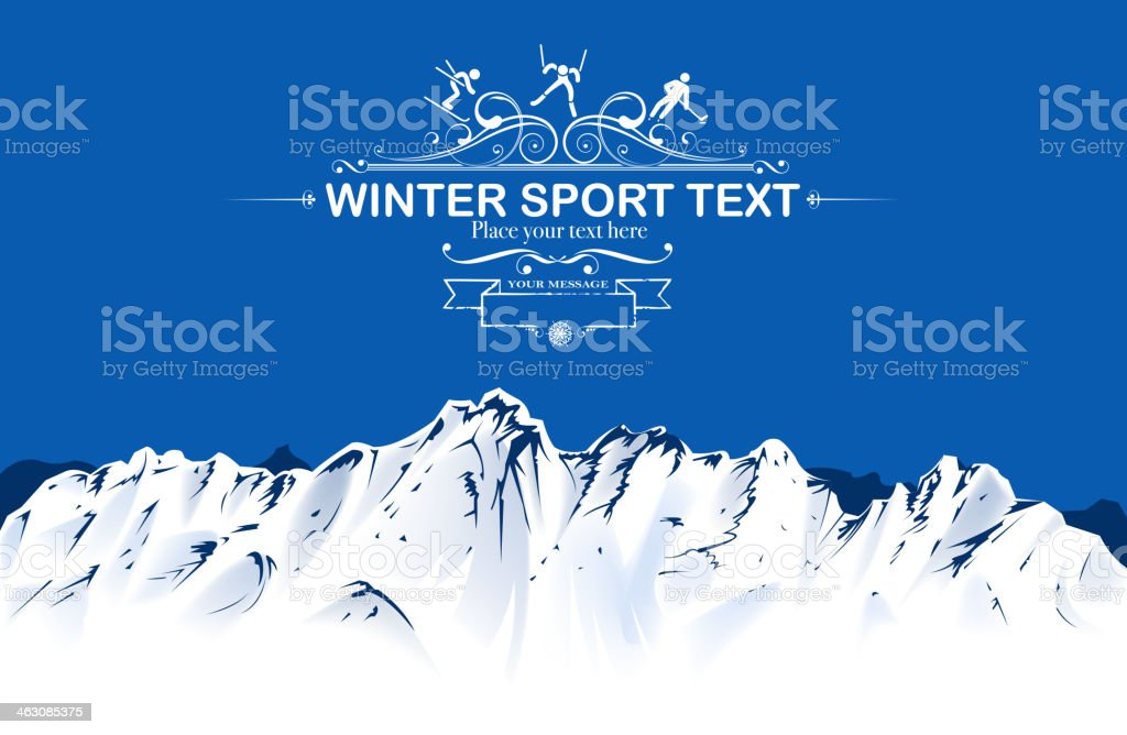winter sport view royalty-free stock vector art