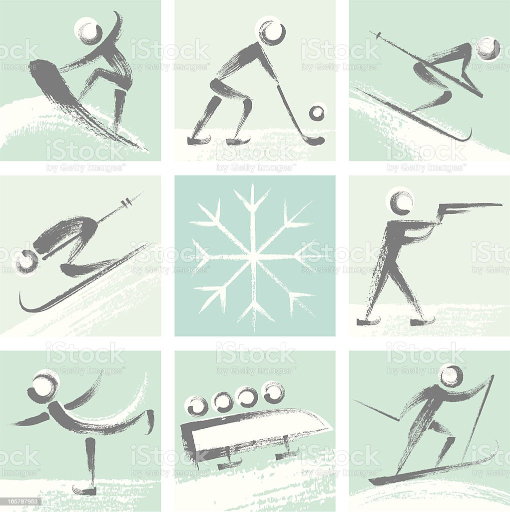Winter Sports Colllection royalty-free stock vector art