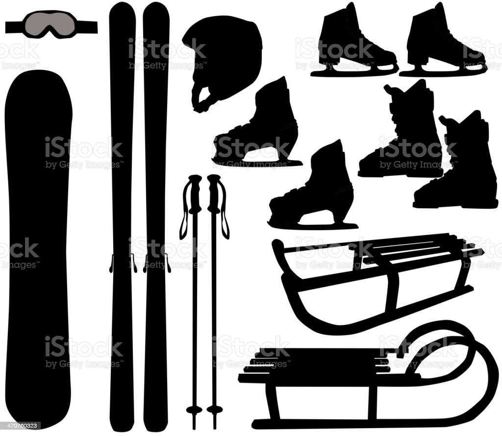 winter sports - vector icons vector art illustration