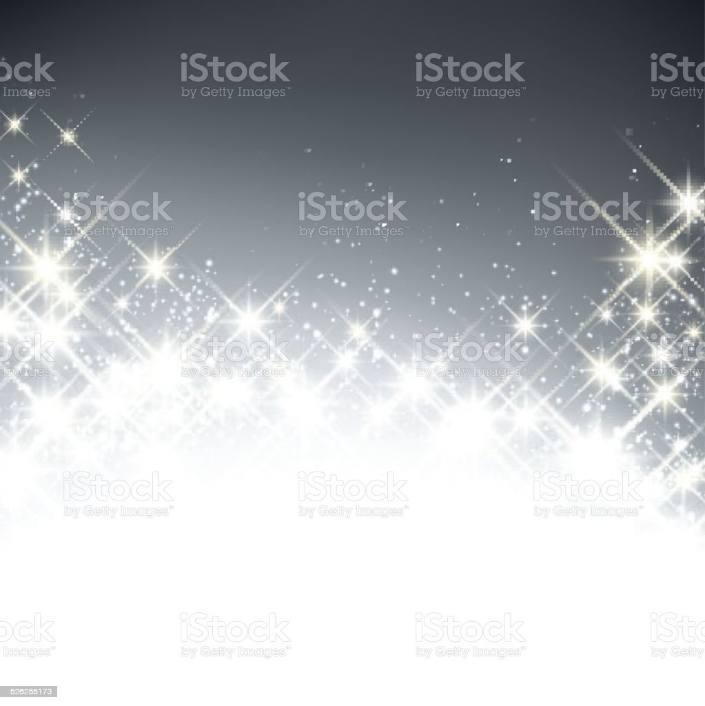 Winter starry christmas background. vector art illustration