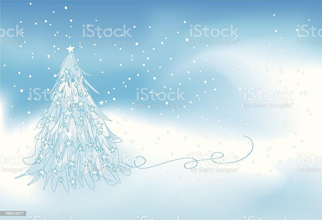 Winter Storm royalty-free stock vector art