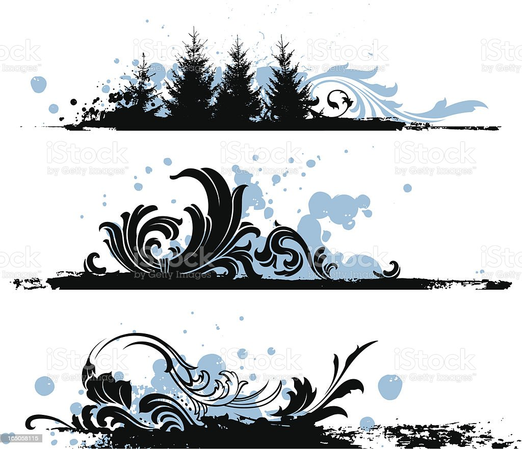 winter strip designs royalty-free stock vector art