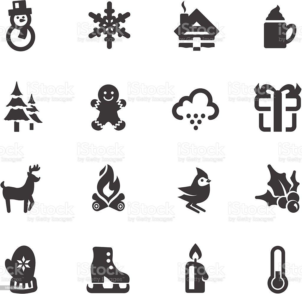 Winter Symbols vector art illustration