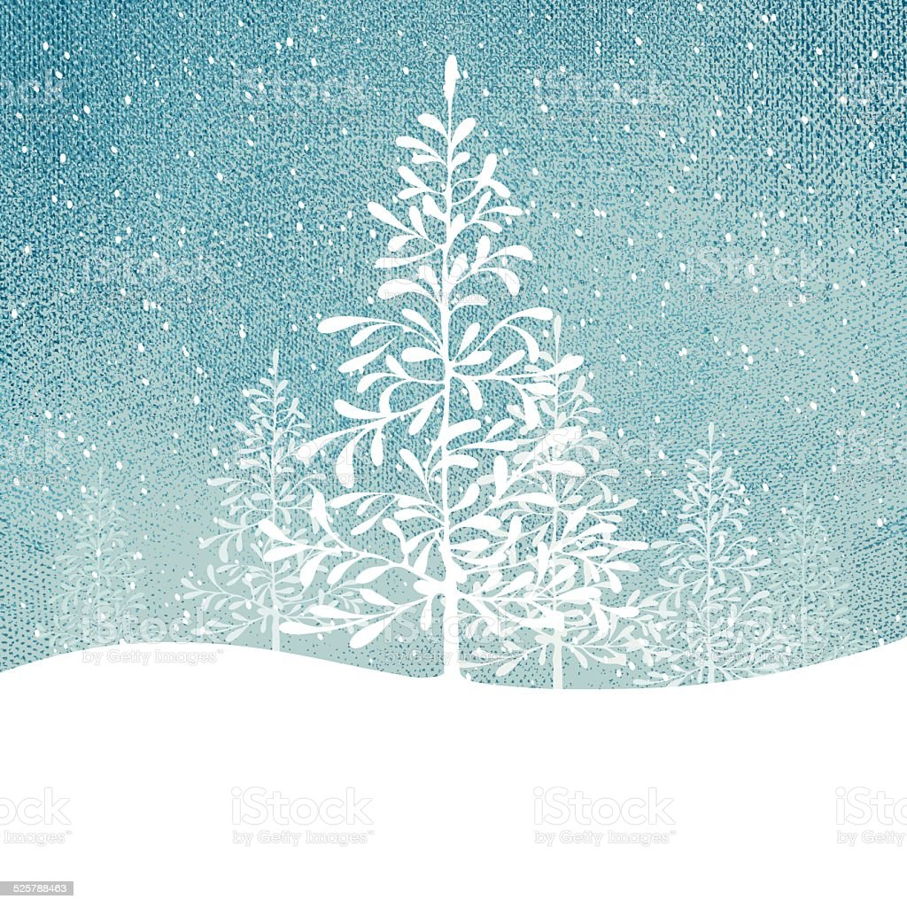 Winter Tree Background vector art illustration