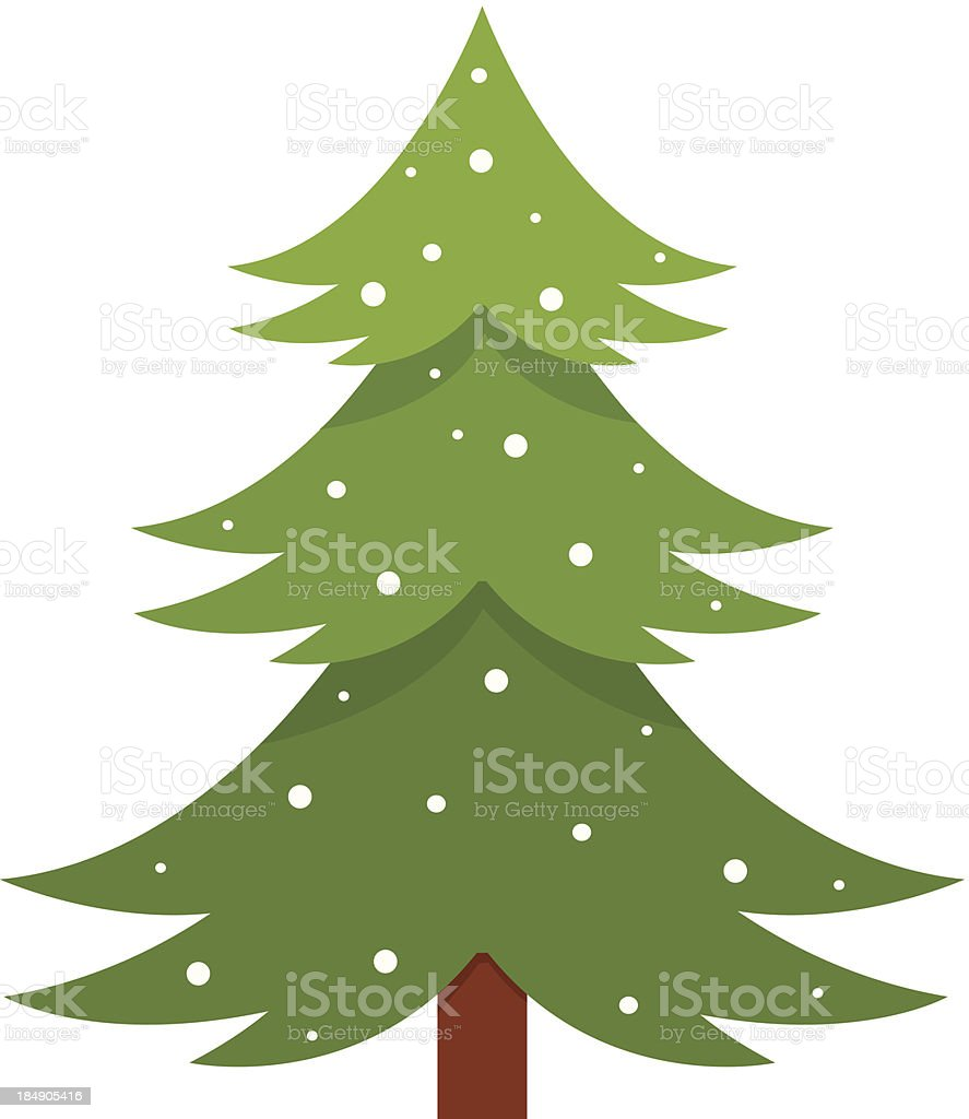 Winter tree vector art illustration