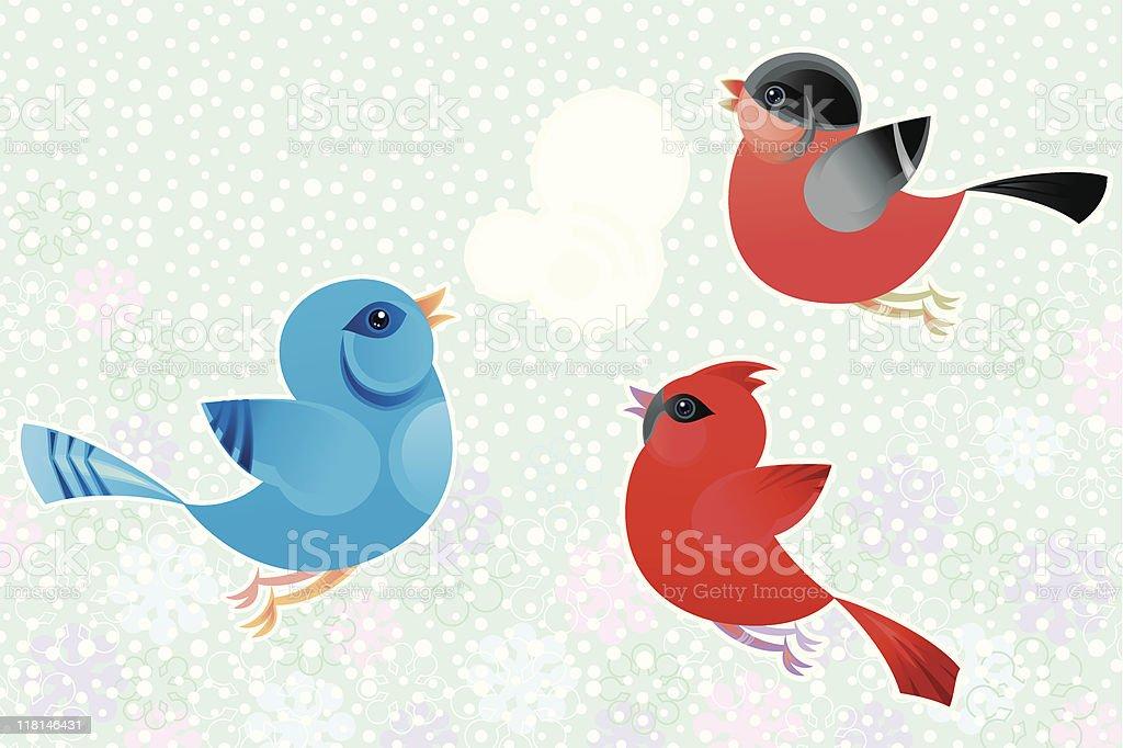 Winter Tweet vector art illustration