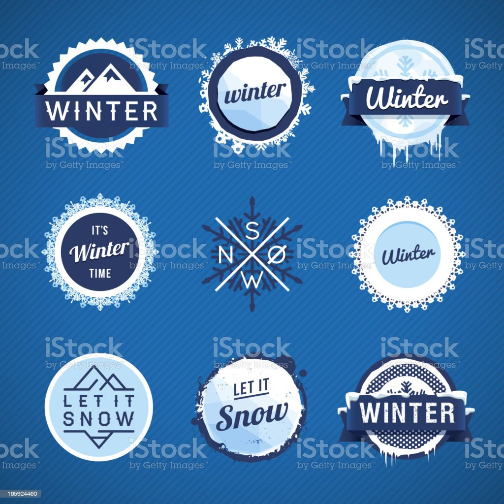 Winter Vector Badges vector art illustration