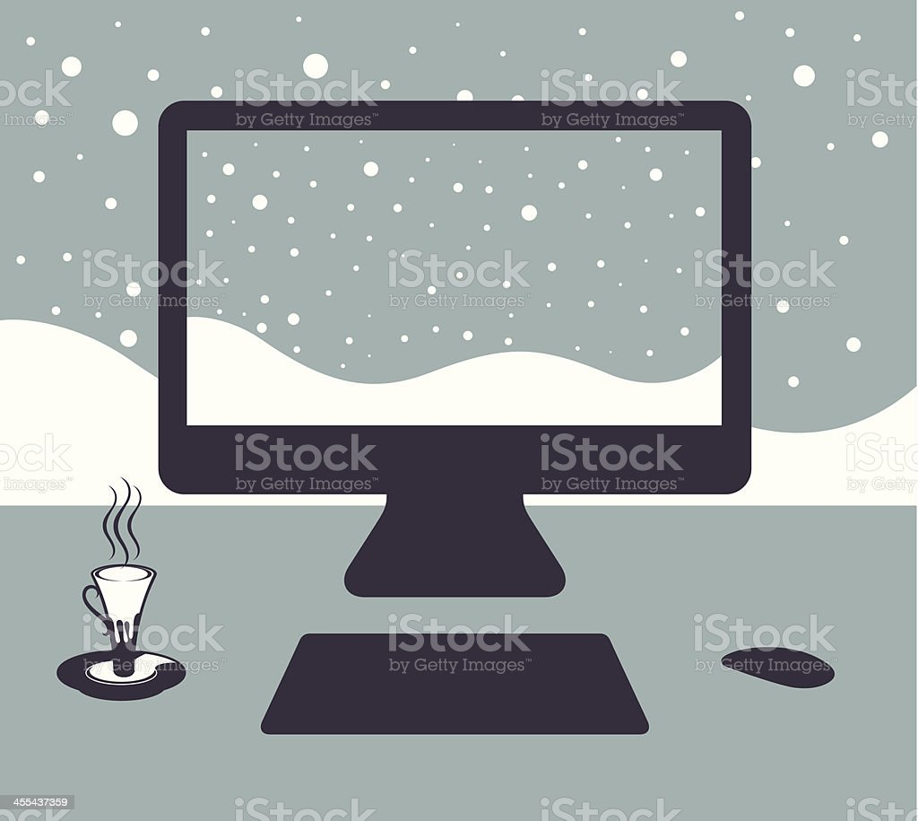 Winter. vector art illustration