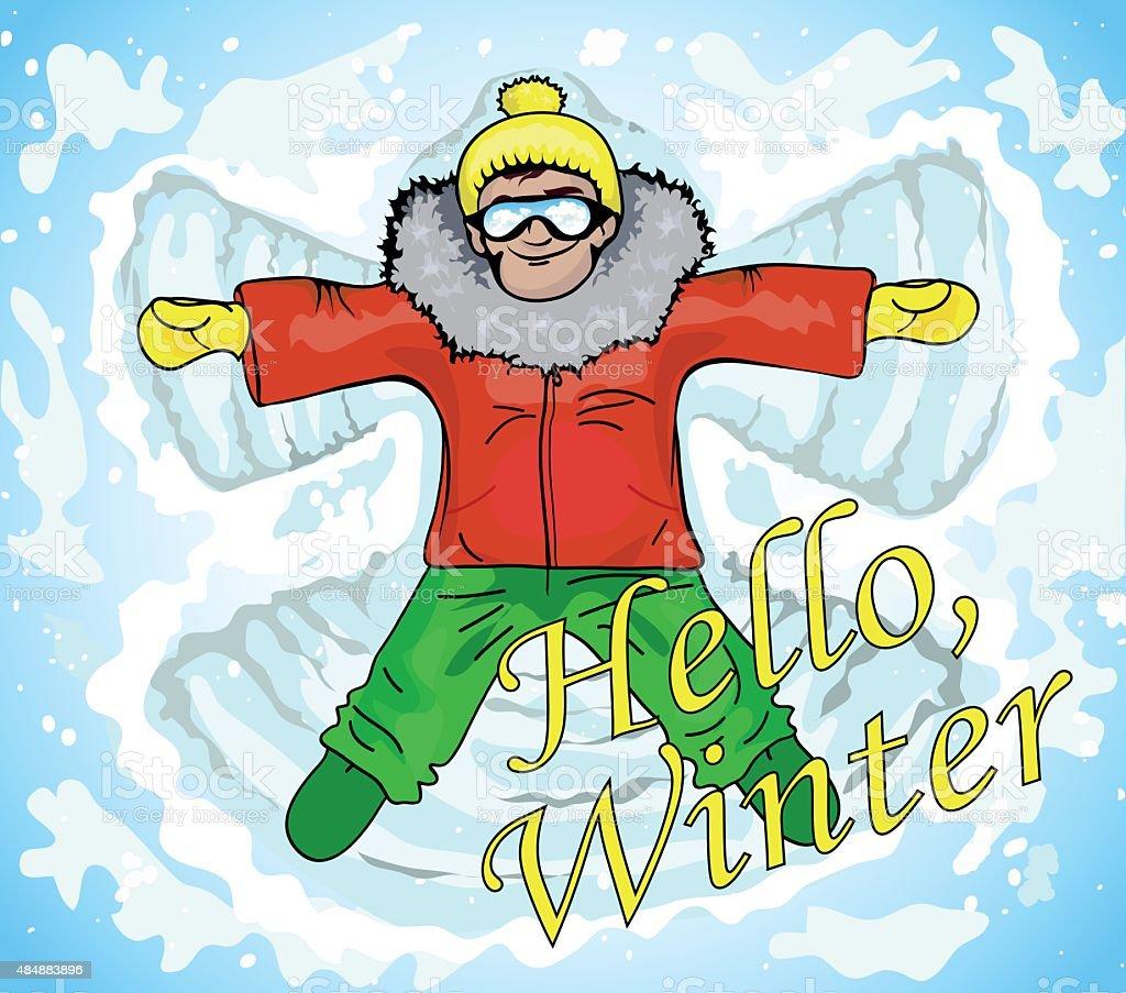 winter vector art illustration
