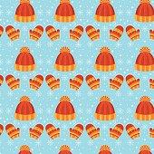 Winter vector seamless pattern.
