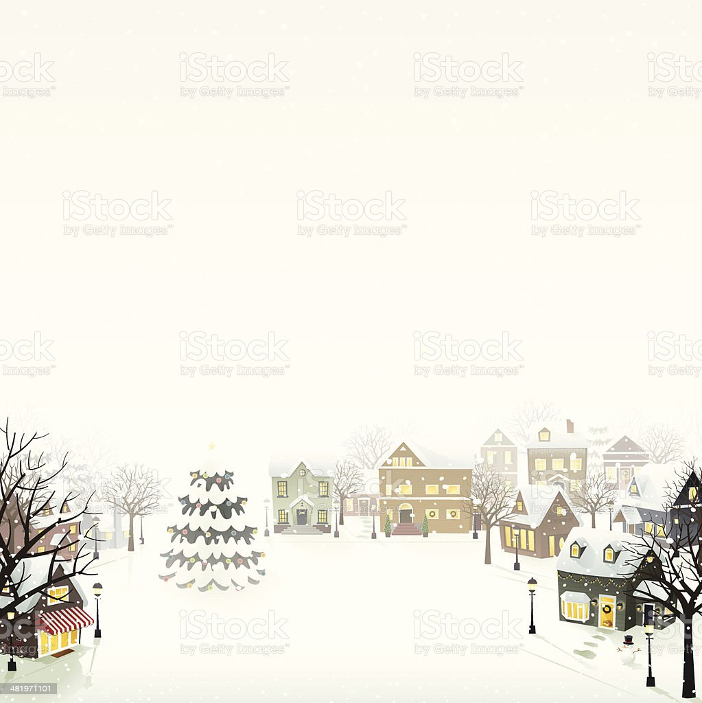 Winter Village - EPS8 vector art illustration