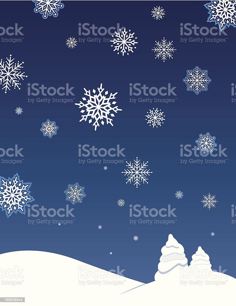 Winter Wonderland royalty-free stock vector art